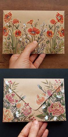art envelope postart snailmail flowers floral art envelope postart snailmail flowers floral Learn to draw a sweet envelope step by step ♥ . - Cute Draw Envelope k .Learn to draw a sweet envelope step Make Up Art, How To Make, Mail Art Envelopes, Paper Art, Paper Crafts, Pen Pal Letters, Envelope Art, Envelope Design, Origami Envelope