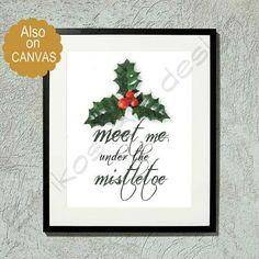 Kids Nursery Prints: Christmas Decor, Christmas Wall Art, Mistletoe Art...