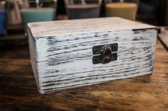 Rustic Handmade Distressed White Wooden Shabby Chic by ZOWBOART