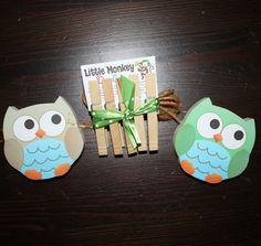 2 Little Boy Owls Wooden Kids Wall Art by LittleMonkeyDoodles, $22.00