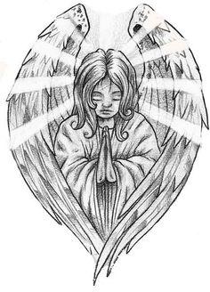 PRAYING ANGEL TATTOO