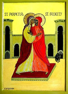 "beautiesofafrique: ""GREAT AFRICAN WOMEN: Saints Perpetua and Felicity Saints Perpetua and Felicity (believed to have died 203) are Christian martyrs of the 3rd century. Perpetua was a married..."