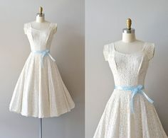 lace 50s wedding dress / 1950s dress / Fidelia lace by DearGolden, $445.00