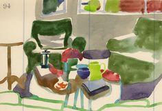Study no 94 original watercolor painting by annamariapotamiti