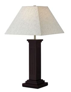 Z-Lite TL110 1 Light Table Lamp In Mahogany with Flax Fabric Shade is made by…