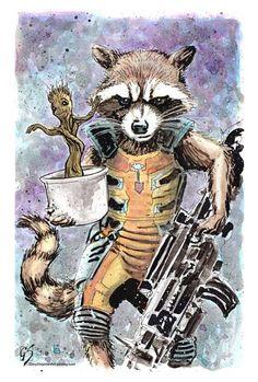 Rocket & Baby Groot by Gary Shipman