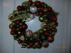 Merry Christmas wreath mix of new and old by ForeverYoursCustom