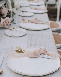 Blush Wedding Table Decor Our round menus have never looked as pretty as they do here in this gorgeous reception by @heart_strings_hire_n_style &…