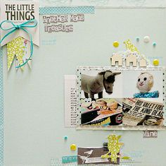 Cute upper corner pennant and title arrangement!