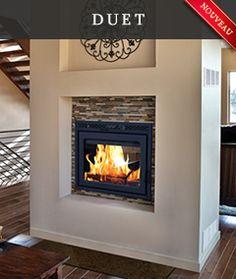 Supreme Foyers Suprême - Poêle à bois à double face, Foyer Vision, double sided wood burning stove, freestanding stove