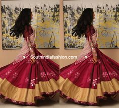 Half Sarees ~ Fashion Trends ~ – Page 25 of 311 – South India Fashion Indian Fashion Trends, Indian Designer Outfits, India Fashion, Half Saree Designs, Lehenga Designs, Blouse Designs, Traditional Fashion, Traditional Outfits, Indian Dresses