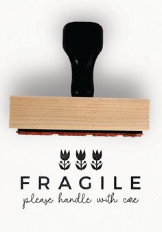 FRAGILE STAMP from the Folksy Collection | An entire coordinating stamp collection especially for your small biz packaging. || The Folksy Collection : Small Business Rubber Stamp – Creatiate | www.creatiate.com