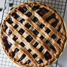 Take advantage of what's left of the blueberry season and make a deliciously easy pie!