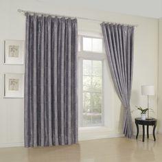 Floral Neoclassical Grey Blackout Curtains   #curtains #decor #homedecor #homeinterior #grey
