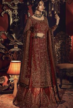 Traditional and grand collection of Pakistani bridal dresses by Aisha Imran - Pakistani Bridal Wear Online Asian Bridal Dresses, Asian Wedding Dress, Indian Bridal Outfits, Pakistani Bridal Dresses, Pakistani Wedding Dresses, Pakistani Dress Design, Shadi Dresses, Indian Dresses, Pakistani Bridal Couture