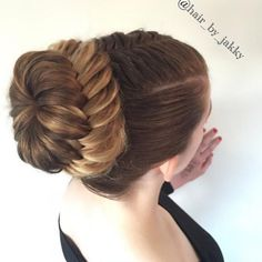 French fishtail pullback into a laced fishtail braided bun hair_by_jakky