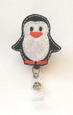 Penguin Felt Badge Reel  Retractable ID Badge by SimplyReelDesigns, $6.00