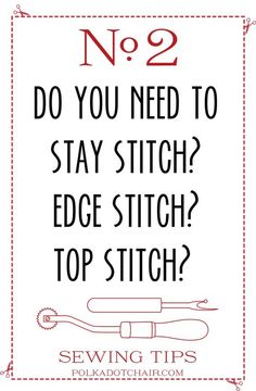 Sewing Tips on polkadotchair.com- click here for 39 more!