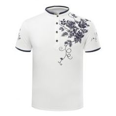 SHARE & Get it FREE | Trendy Slimming Stand Collar Rose Print Short Sleeve Polo T-Shirt For MenFor Fashion Lovers only:80,000+ Items • FREE SHIPPING Join Twinkledeals: Get YOUR $50 NOW!