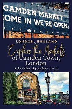Explore the Markets of Camden Town, London London Tours, London Museums, London Places, London Activities, Camden Town, Things To Do In London, Places Of Interest, England, Explore