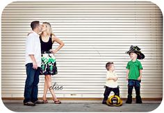 Since my husband is a firefighter, it's only fitting that we have a family picture like this...one day! :)