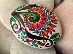 bloom / painted rocks / painted stones / Sandi by LoveFromCapeCod
