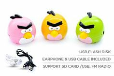 MP3 Player 3 Pcs (Pink/Yellow/Green)