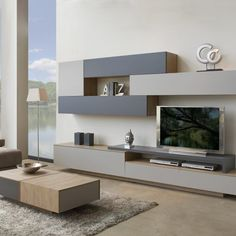 comedor nº14 2138€ Living Room Wall Units, Home Living Room, Living Room Designs, Living Room Decor, Tv Wall Design, House Design, Modern Tv Wall Units, Muebles Living, Tv Wall Decor