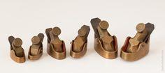 Set f Six Brass Violin Planes G.E SCARR HESSLE E. YORKS