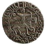 "Another document from Seljuks is a coin produced during Sultan Rukneddin's (Kılıçarslan IV) reign. Please note the Turkish and Islamic name of the Sultan: another sign for the ""passing phase"". Here you see a short recurve and two more arrows in the string hand, the latter indicates the use of thumb release by Seljuk archers."