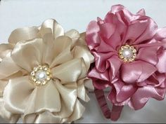 DIY ribbon rose tutorial,How to,fabric flowers,easy Ribbon Art, Diy Ribbon, Fabric Ribbon, Ribbon Crafts, Flower Crafts, Easy Fabric Flowers, Satin Flowers, Diy Flowers, Diy Fleur