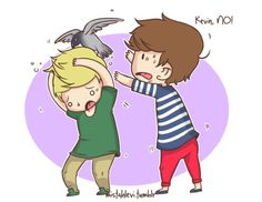 Bad Kevin! Don't scare Niall!