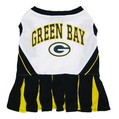PUPPY LOVE COUTURE -  NFL Dog Cheerleader Dresses Green Bay Packers Cheerleaders, Packers Team, Nfl Cheerleaders, Packers Memes, Packers Funny, Dog Dresses, Dress Outfits, Dog Outfits, Cheerleading Uniforms