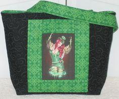 Celtic Fairy Medium Tote Bag Irish Pin Up Girl by Mokadesigntotes, $36.00