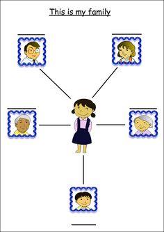 Family Members Worksheet For Kids Tree Time