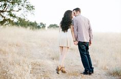 Great couples pose - lean into each other - Malibu Engagement Photos: Denise + Dominic