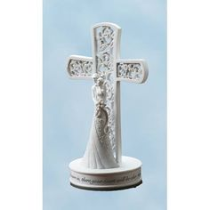 Religious Cake Toppers Glass Heart Religious Wedding Cake Topper w