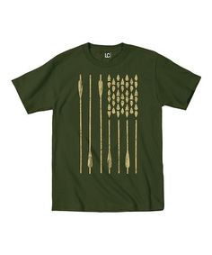 Look at this #zulilyfind! Military Green Bow & Arrows Flag Tee - Men's Regular & Big #zulilyfinds