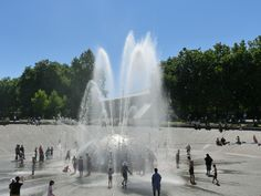 The greatest part of my trips back to Seattle is soaking up the sun at the Seattle Center Fountain.