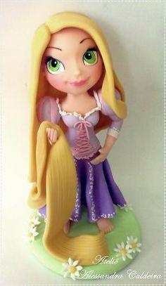 Rapunzel cake topper :)