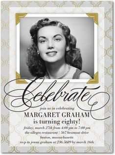 Flawlessly Framed - Adult Birthday Party Invitations in Black or Jewel | Sarah Hawkins Designs