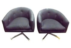 Midcentury Swivel Chairs, Pair on OneKingsLane.com