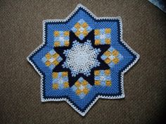 Patchwork Crochet Blanket Free Pattern