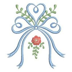 Wind Bell Embroidery Embroidery Design: Heirloom Christening Rose 3.82 inches H x 3.41 inches W