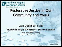 Northern Virginia Mediation Service - Restorative Justice