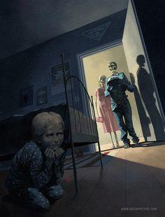 Birthday Boy, kuvittaja / illustrator Ossi Hiekkala 2014 #illustration #kuvitus #scifi #horror #editorial #skeleton #birthday #digital