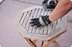 tutorial on painting outdoor furniture