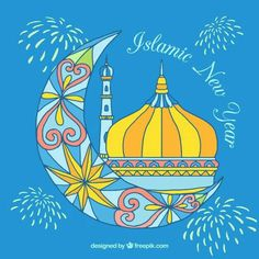 Multicolor islamic new year background Free Vector Best Digital Marketing Company, Digital Marketing Services, Embroidery Flowers Pattern, Flower Patterns, Mubarak Ramadan, Islamic New Year, Festivals Of India, New Years Background, Backgrounds Free