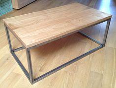 Réalisation table basse en bois et acier