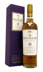 McCallan 18yr Sherry Cask single malt scotch
